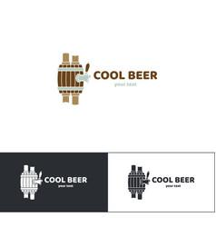 beer logo seven vector image