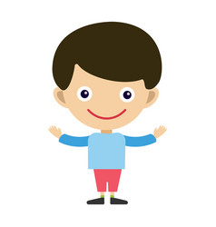 boy portrait fun happy young expression cute vector image vector image