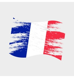 color france national flag grunge style eps10 vector image