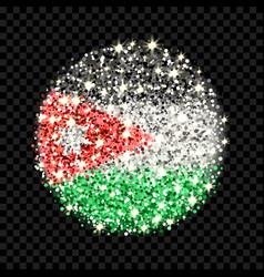 jordan flag sparkling badge vector image