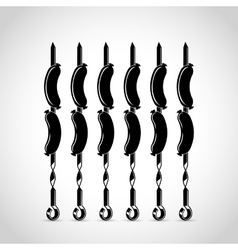 sausage flat icon vector image