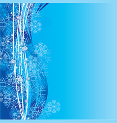 blue cyan snowflakes background vector image vector image