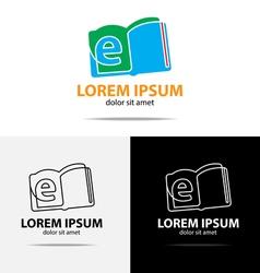 ebook logo vector image