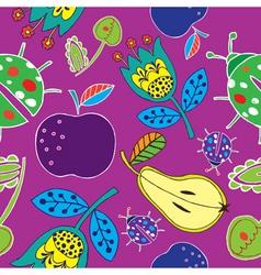fruits print vector image vector image