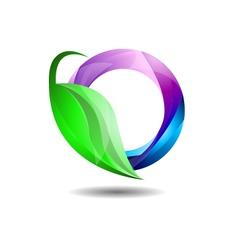 Glossy Environment Friendly Internet Company Logo vector image vector image