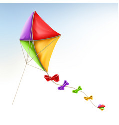 kite 3d icon vector image vector image