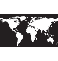 White map on black background vector image