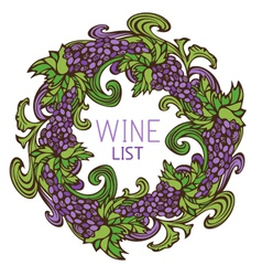 Circle design for wine list vector image