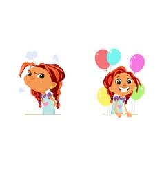 Digital funny cartoon happy vector