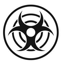 sign of biological threat icon simple style vector image