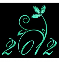 2012 year sign vector image