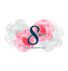 8 march womens day beautiful card design vector image