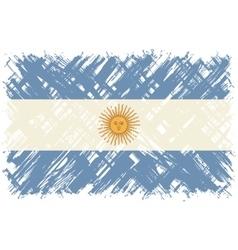 Argentinean grunge flag vector