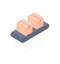 automated conveyor belt isometric vector image