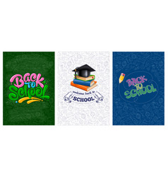 back to school backgrounds set vector image