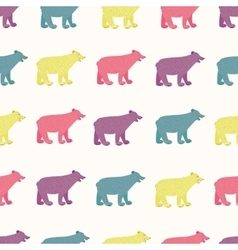 Bears seamless pattern vector image