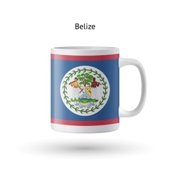 Belize flag souvenir mug on white background vector image