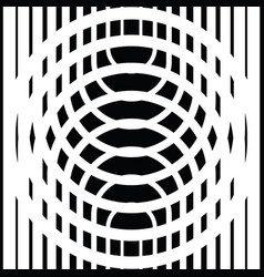 black and white circular lines vector image