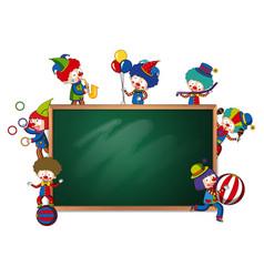Blackboard banner circus theme vector