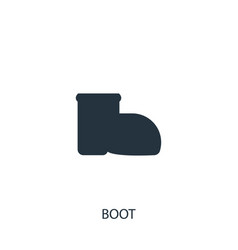 Boot icon simple gardening element symbol design vector