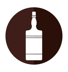 Bottle whiskey expensive liquor shadow vector