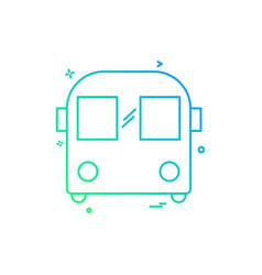 bus icon design vector image