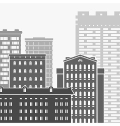 City and Skyscrapers vector