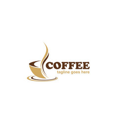 Coffee cafe business logo vector