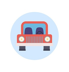 Colorful Flat Design Car Icon vector image