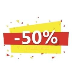 Colorful sale badge Geometric design vector image