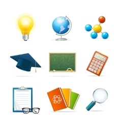 Colorful Science Icon Set vector