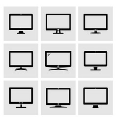 computer monitor icons set vector image