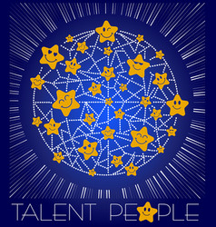 Concept of talent is people vector