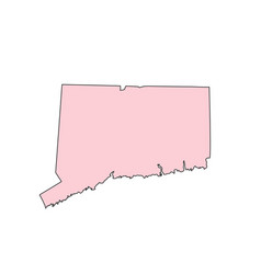 Connecticut map isolated on white background vector