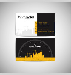 Construction business card functional design vector
