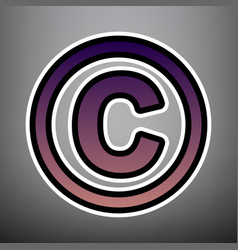 Copyright sign violet vector