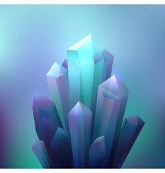 Crystal Minerals Background vector