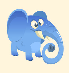 cute cartoon blue elephant vector image