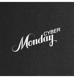 Cyber Monday Sale labe vector image