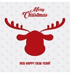 Deer icon Merry Christmas design graphic vector image