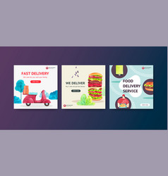 Delivery ads design vector