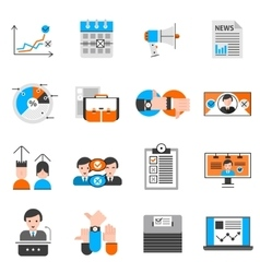 Elections And Voting Icons Set vector