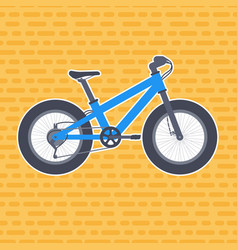 fat bike in flat style vector image