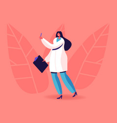 female doctor endocrinologist in medical robe vector image