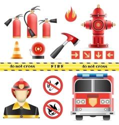 Fire set vector