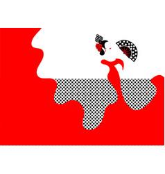 flamenco dancer sexy silhouette spanish woman vector image