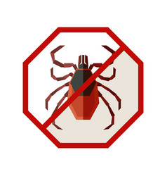 flat geometric sign with tick vector image