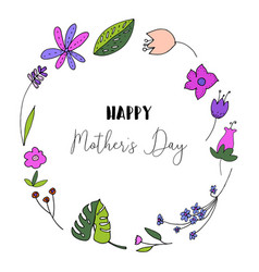 floral happy mothers day vector image