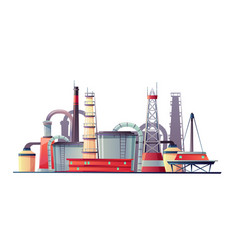 Fuel industry refinery plant oil station vector