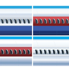 Fuselage of a commercial aircraft vector